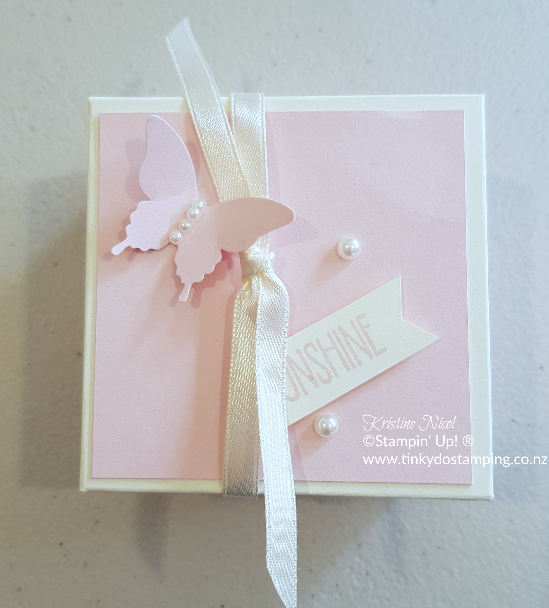 Elegant Butterfly and Wedding Wishes Box for 3″x3″ notecards ...